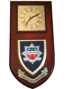 Humberside Fire and Rescue Wall Plaque Clock
